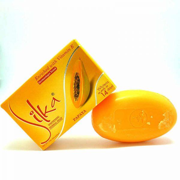 Silka Papaya Whitening Herbal Soap